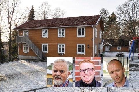 SIER JA: Gruppelederne Dagfinn Stærk (tv), Fredrik Holm og Arve Sigmundstad ser ut til å være enige om at det bør gjennomføres tilsyn ved de private barnehagene i Halden. Dette som en følge av Klengstua-saken.