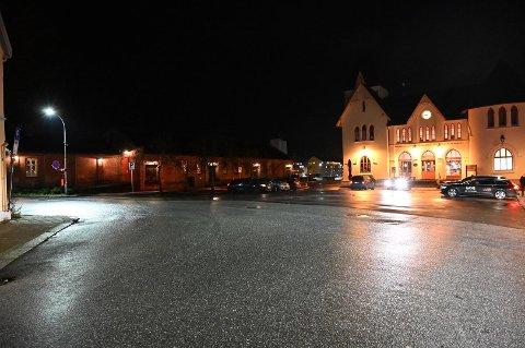 Ulykken fant sted ved Jernbanestasjonen i Halden.
