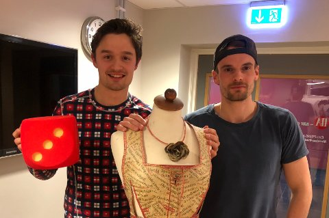 Ole Jacob Herft (tv) og Øystein Lundblad Næsheim i den nye episoden av Sportsprat.