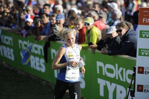 Nesten medalje: Marika Teini løp inn til fjerdeplass, ti sekunder bak bronsen.