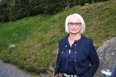 ORDKNAPP: Leder i Halden Høyre, Elin Lexander, forteller at de har fått økonoisk valgkamstøtte. Men hun vil ikke offentliggjøre hvor mye det dreier seg om.
