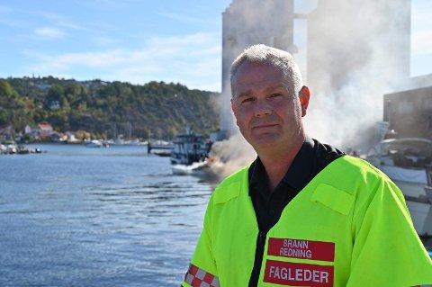 Ole Christian Torgalsbøen, brannsjef i Halden.