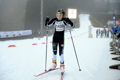 MOTIVERT: Agnes Helene Høyven Andersen gir ikke slipp på langrennssporten selv om treningsforholdene har vært vanskelige i vinter.