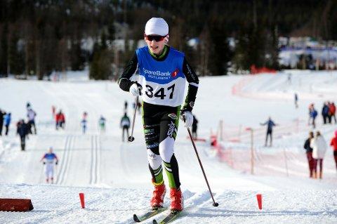 GÅR FINT PÅ SKI: Per Morten Finstad var eneste Tistedalen-løper som var i aksjon i Hovedlandsrennet og det uoffisielle norgesmesterskapet for 15 og 16-åringer.
