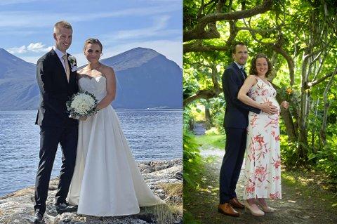 Nygifte o-profiler. Til høyre Olav Lundanes og Ida Bjørgul Lundanes, til venstre Magne og Kine Dæhli.