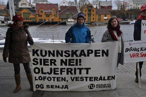 MED BANNER: Lillian Dyrstad Irgens, Gaute Eiterjord, Mari Gjerdåker og Steinar Rundhaug. Foto: Ståle Pedersen/Besteforeldrenes klimaaksjon