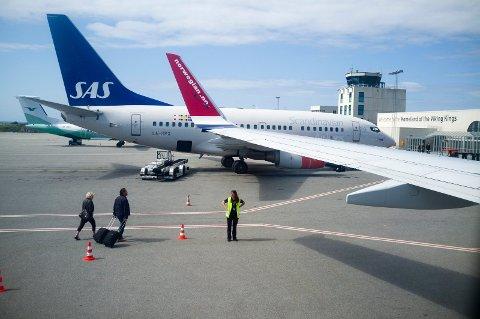 09.40-FLYET INNSTILT: Fra Haugesund lufthavn, Karmøy.