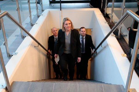 Sylvi Listhaug har hatt politibeskyttelse de siste to årene som statsråd. Bakgrunnen er drapstrusler hun har fått fra meningsmotstandere. Foto: Håkon Mosvold Larsen / NTB scanpix