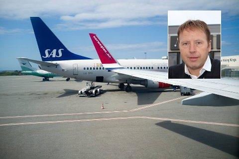 Hvis det blir streik blant flyplassansatte på fredag, kan fly måtte bli satt på bakken fra klokken 10. (Innfelt Tore Lillenes)