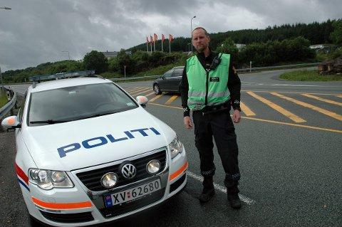 Politiet og innsatsleder Thomas Johansen er godt kjent med dette krysset.