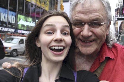 EVENTYR: Arvid og datteren Johanna i New York.