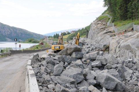 Fylkesvei 78 ved  Halsøy