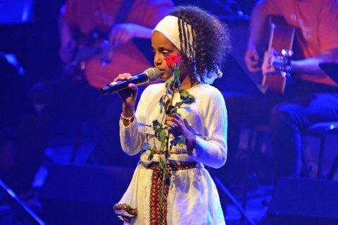"""SANGEN OM FJELLET: Nardos Gebrelasse imponerte da hun var første sanger under """"Sangen om fjellet""""."""