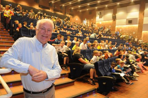 Feiring: Kinosjef Per Breirem forteller de skal prøve å få til flere arrangement i løpet av året for å feire jubileet, og det vil selvfølgelig bli kinorelatert.