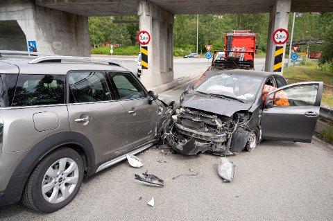 To biler var torsdag involvert i en ulykke i Mosjøen.