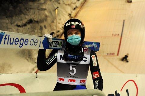 NUMMER SEKS: Eirin Maria Kvandal lå på andreplass etter første omgang, men ble til slutt nummer seks i Titisee-Neustadt.