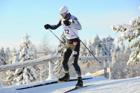 GIKK FORT: Emil Vilhelmsen gikk fort i langrennet da han ble nummer tre i lørdagens norgescuprenn på Lillehammer.