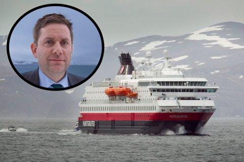 Innfelt: Konsernsjef Daniel Skjeldam i Hurtigruten.