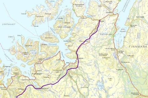 skaidi kart iFinnmark   Jubler for ny kraftlinje fra Balsfjord til Skaidi skaidi kart