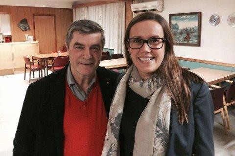 Hammerfest Arbeiderparti, her ved ordfører, Alf E. Jakobsen, og varaordfører, Marianne Sivertsen Næss, forslår blant annet et tilskudd på 4,6 millioner til ny skiheis.