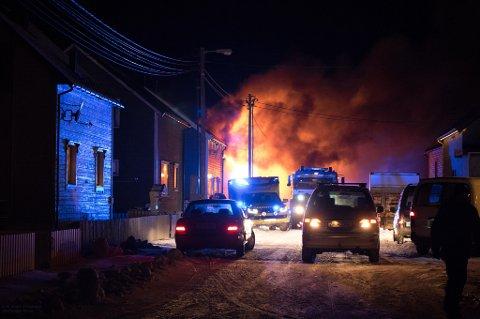 OMKOM: En person ble funnet omkommet i brannen i Vardø.