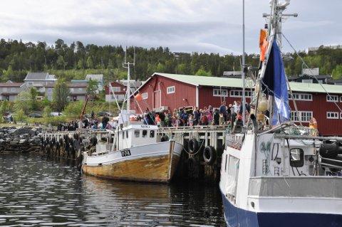 MARITIM DAG: Det var mange som hadde møtt fram på den maritime dagen i Alta i fjor.