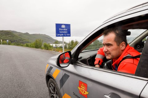 Prosjektleder Gudmun Løvli, Statens vegvesen. E6 vest for Alta. Foto: Oddgeir Isaksen