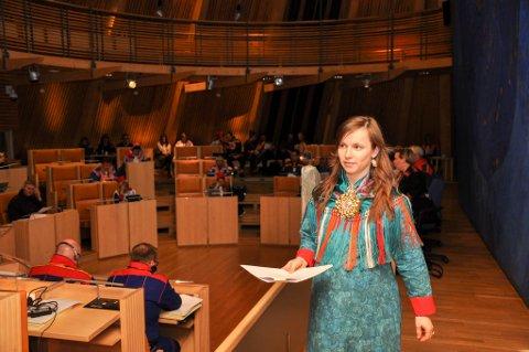 ENSLIG SVALE: Árja har mistet tre mandater, og Inger Eline Eriksen Fjellgren blir alene til å representere partiet på Sametinget.
