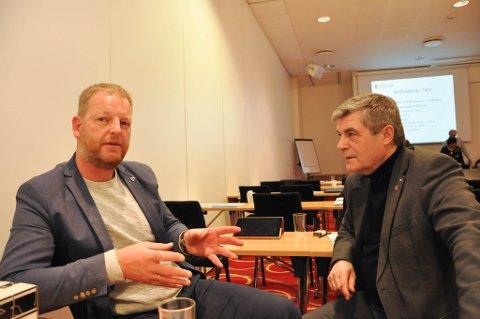ORDFØRERE Loppa- ordfører Steinar Halvorsen (til venstre) og Hammerfest-ordfører Alf E. Jakobsen.