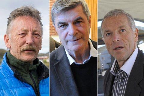 «STRAFFES»: Små kommuner, spesielt i Finnmark straffes, sier Hammerfest-ordfører Alf E. Jakobsen, i midten. Til venstre ser du Måsøy-ordfører Gudleif Kristiansen, og til høyre er Båtsfjord-ordfører Geir Knutsen, som heller ikke er særlig fornøyd med regjeringens skatteforslag.