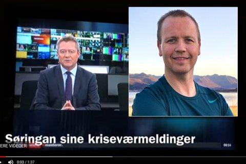 KRISEVÆR: Torgeir Sørensen laget youtubevideo av det han kaller «søringenes kriseværmeldinger»