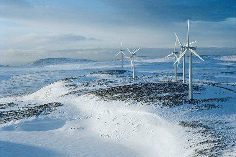Vindpark. Bildet er hentet fra vindparken i Kjølleford (Foto: Finmarken)