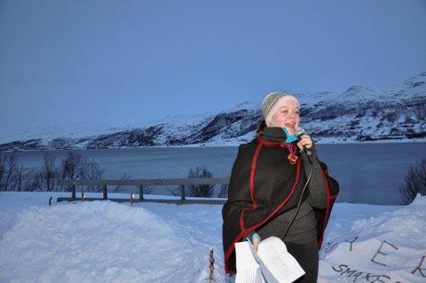 NU: Kamilla Samuelsen er fylkesleder for Natur og Ungdom (NU) i Finnmark.