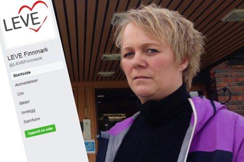 MANGE BERØRTE: Frivillig i LEVE Finnmark, Vibeke Sørensen, sier at mange er berørt av selvmord i Finnmark. LEVE Finnmark ønsker dermed flere lokallag i fylket.