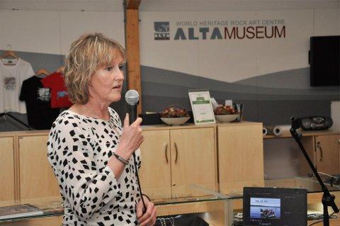 SIER OPP STILLINGEN: Direktør for Alta Museum, Harriet Hagan har sagt opp stillingen sin og flytter til Sør-Varanger.