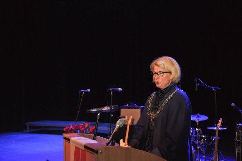 REKTOR: Anne Husebekk er rektor ved UiT. Her ved åpningen av studieåret 2017/2018 ved UiT Campus Alta.