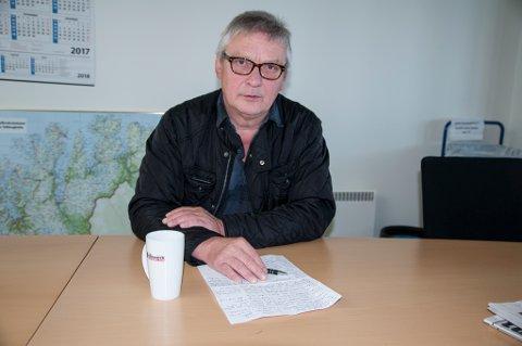 BEKYMRET: - Det er galt det vi mennesker driver med, sier Oddmund Pedersen om all plastforsøplingen omkring.