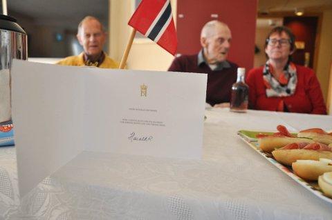 KONGELIG HILSEN: Blant gratulantene til Ingvald Heitmann var Hans Majestet Kong Harald.