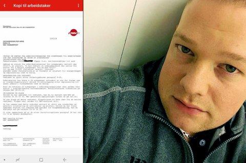 GRAVID: Per Arne Zachariassen fikk spesiell beskjed fra Nav i postkassa.