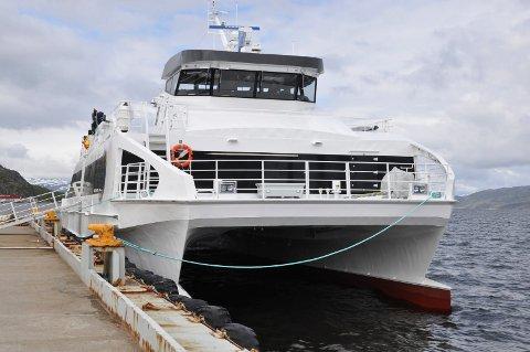 NY HURTIGBÅT: Fylkeskommunen skal eie en ny hurtigbåt.