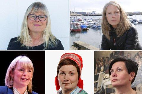 KJENTE STEMMER: (f.v) Ingalill Olsen, Kirsti Bergstø, Kari Elisabeth Kaski, Aili Keskitalo, og Helga Pedersen er alle kjente stemmer fra Finnmark innen politikken.