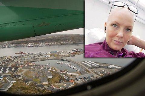 LIVREDD: Janne H. Planting sier at hun regelrett hadde dødsangst under landingsforsøket i Hammerfest mandag kveld.