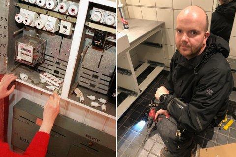 RISIKOFYLT: - Når folk skal gjøre ting selv og ikke er så veldig trygg på det, blir det fort krøll. Det kan føre til enten brann eller personskade, sier Jørn Tormod Heitmann, daglig leder i Nordlys Elektroservice AS.