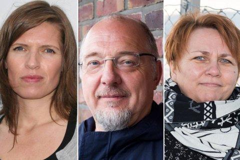 TRIST: Ordførerne Stine Akselsen, Rune Rafaelsen og Aina Borch syns det er trist med slike kommentarer.