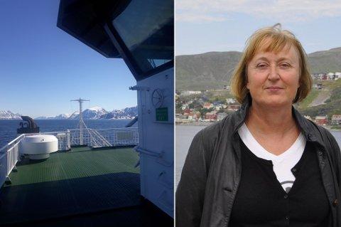 BRA, MEN: - Reserveferge skulle settes inn etter fire døgn, sier Hasvik-ordfører Eva D. Husby. Nå er MF Lurøy som du ser her, satt inn.