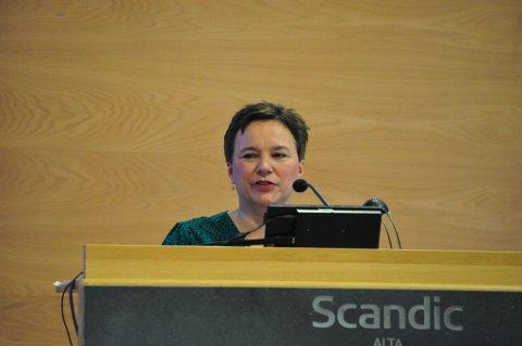 FORNØYD: Fylkesordfører Ragnhild Vassvik er fornøyd med at sammenslåingen mellom Finnmark og Troms settes på pause.