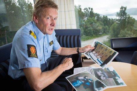 VANSKELIG Å TA BAKMENN: Regiondirektør for tollvesenet i Nord-Norge, Atle Joakimsen kan fortelle at internett gjør det vanskeligere å ta bakmennene.