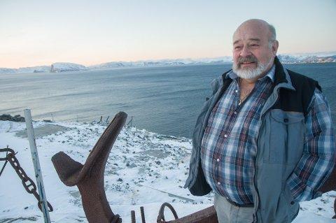 Viktig historie: Bartholdsen satt opp isbjørnen for å minne byens innbyggere om den viktige ishavshistorien til Hammerfest.