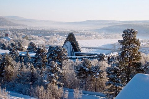 VINTEREN ER PÅ PLASS: Torsdag denne uken var Karasjok, for første gang denne vinteren, nede og luktet på 30 tallet på den blå siden av temperaturskalaen.  Bilde er tatt ved en annen anledning.
