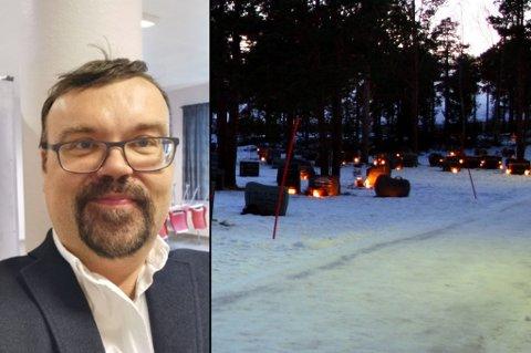 - GROVE EPISODER: Kirkeverge Arne Dahl Nygaard forteller at han har hørt om grove episoder på kirkegården. Dette er ikke den aktuelle kirkegården, men en illustrasjon.